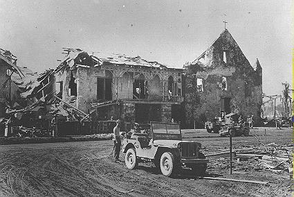 Bombed church in Dulag, Leyte in WWII